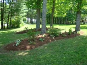 Mulching and flower bed installation, Floyd VA