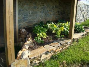 Dry stack raised flower bed, Floyd, VA